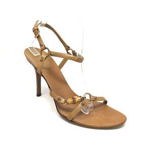Gucci Bamboo Strappy Sandals Shoes Size 8.5/38.5